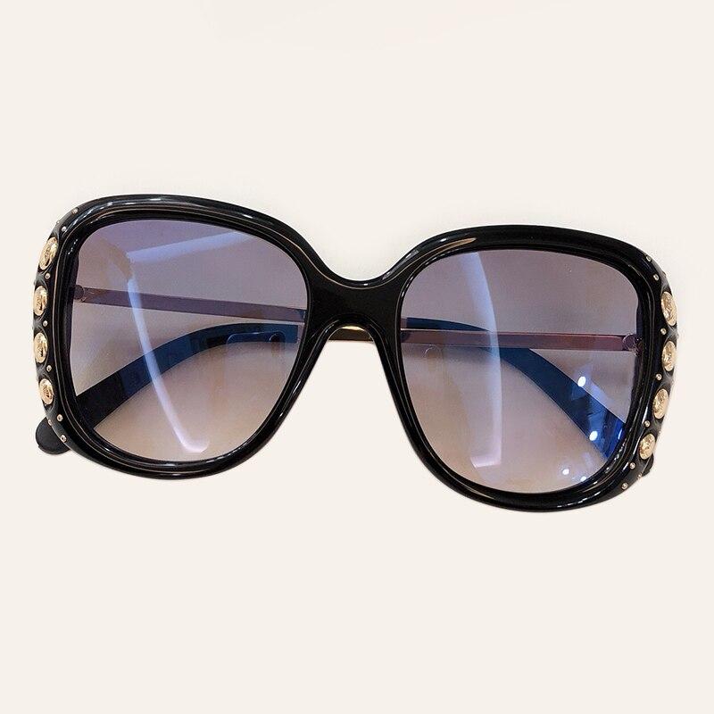 Mode carré lunettes de soleil femmes 2019 marque de luxe grandes lunettes de soleil Femme miroir nuances dames Femme Oculos