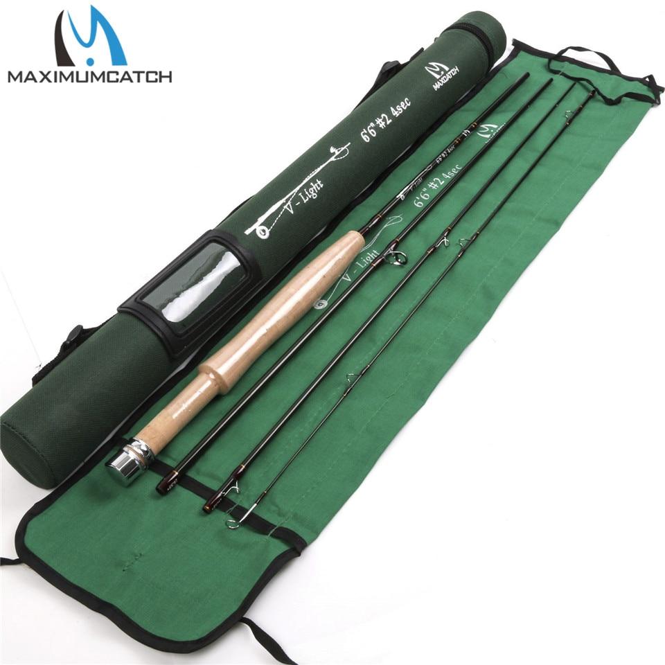 Maximumcatch 2WT Fly Rod 6.5FT 4SEC Medium Fast Graphite Fly Fishing Rod and Cordura Rod Tube