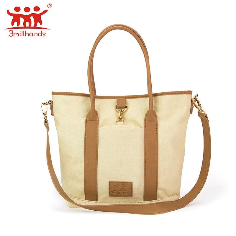 ФОТО Limited Edition 3Millhands canvas patchwork women shoulder bag pu handle women handbag own designer original women bag