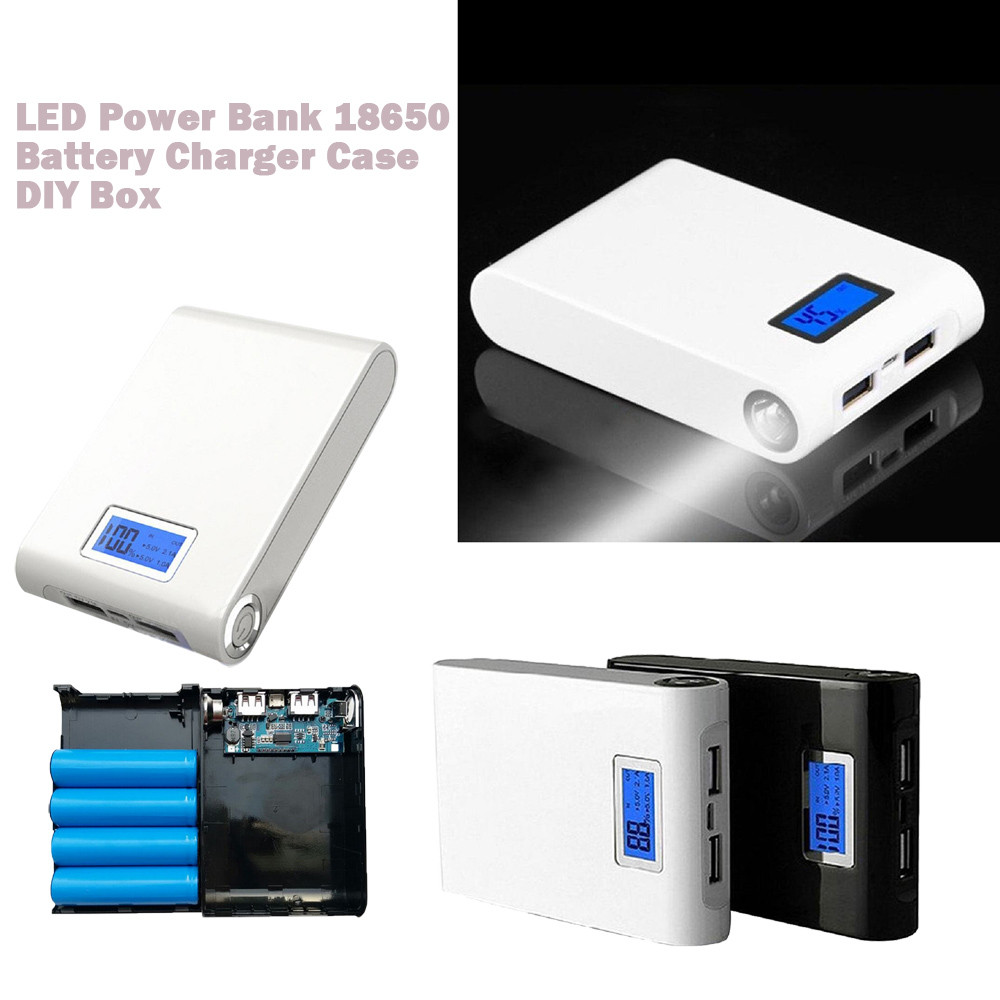 LED 5V 12000mah Dual USB Power Bank 18650 Battery Charger Case DIY Box For Phone USB External Battery Charger Drop Shipping 3pairs lot fk25 ff25 ball screw end supports fixed side fk25 and floated side ff25 for screw shaft page 6
