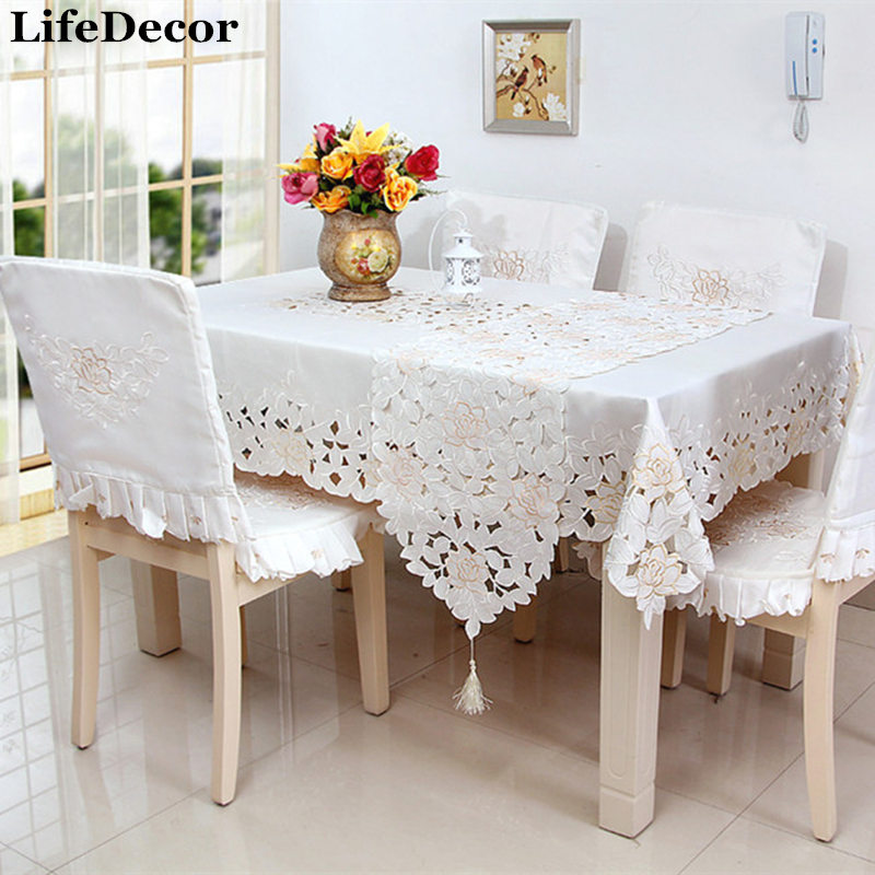 quality dining room chair covers reading ikea fashion 1103 rustic table cloth embroidered tablecloth