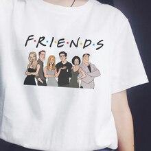 New Harajuku Friends TV Show Women T Shirt Print Short Sleeve Tops Tees Summer Fashion Kawaii Casual Best Friends Lady T-Shirt все цены