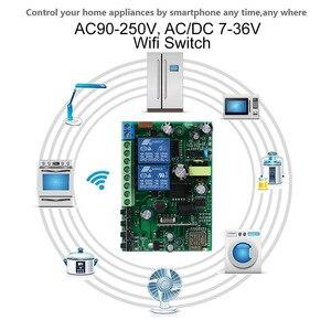 Image 4 - KTNNKG 433 MHz 10A Wifi commutateur 2 canaux relais modules domotique récepteur sans fil et Ev5127 433 MHz RF télécommandes