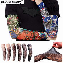 M-theory 3D Arm Tattoos Sleeve Elastic Stockings Leggings Temporary Body Makeup 3d Tatuagem Henna Tatto Flash Tatoos Body Arts