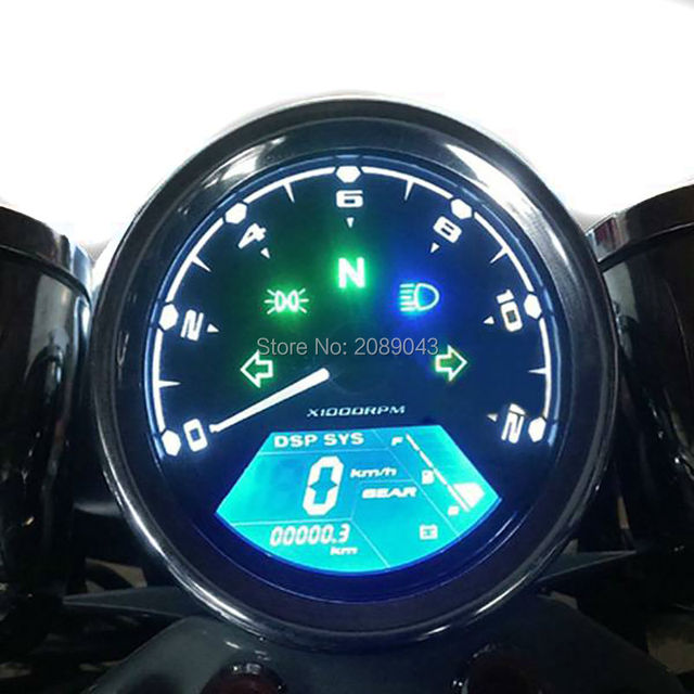 2016 HOT Sale Universal LCD Digital Speedometer Odometer Motorcycle MotorBike F1,2,4 Cylinders