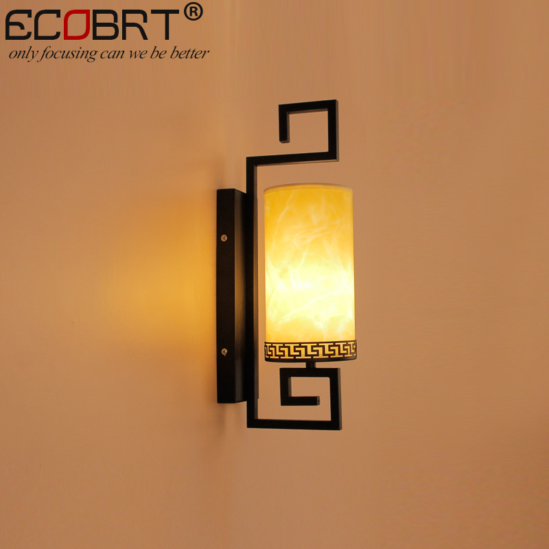 ECOBRT Class Antique wall lamps bedroom wall Sconces lamps creative hotel bedside wall lamp with E27 Bulb Socket 220V / 230V AC