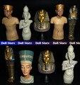 9 pçs/lote de madeira / liga egito antigo santo padroeiro / faraó / Tutankhamun 7 - 8 cm PVC Action Figure modelo brinquedos presentes figurinhas