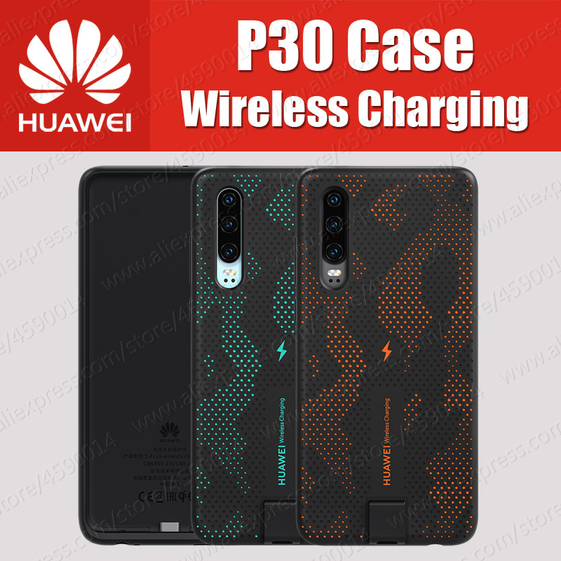 CNR216 UVT Qi 10W Original HUAWEI P30 Wireless Charging Case Magnetic Back Cover Supports Car Mount
