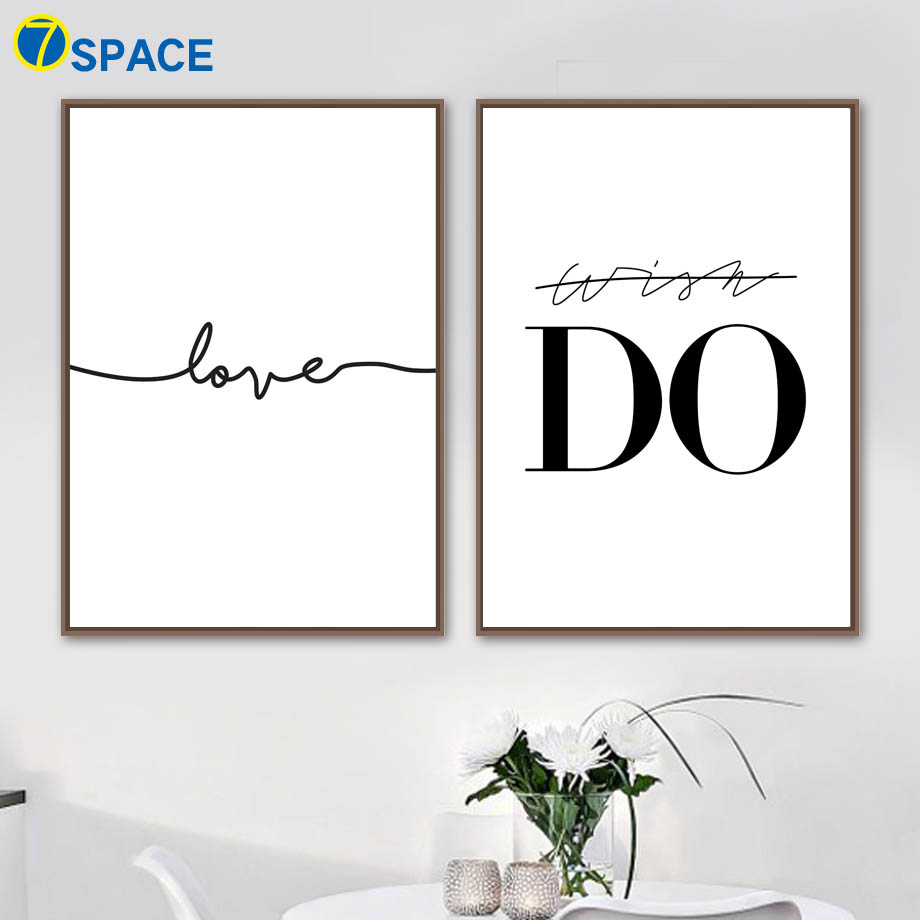 Line Do Love Quotes Wall Art Canvas Painting Nordic Posters And Prints Pop Black White Pictures For Living Room Decor