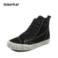 SWYIVY Women S Vulcanize Shoes Winter High Top Platform Sneakers Women 2017 Sneakers Casual Breathable Fur