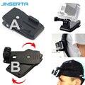 360 graus de rotação mochila clipe braçadeira de montagem para xiaomi yi 2 4 k para gopro hero4/3 +/3/2/1 acessórios da câmera sjcam action