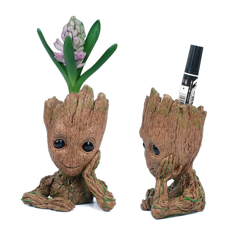Funny Guardians of The Galaxy 2 Tree Men Toys Cute Action Figure Toys Doll Model Pen Pot Holder Gifts Kids Desktop Decoration guardians of the galaxy 2 characters vinyl doll kawaii 10cm action figure toys