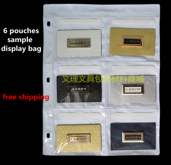 6 Pouches Samples Bag,A4 Multi Sample, Multi Display Bag, A4 Plastic Bag, Free Shipping
