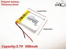 Good Qulity Polymer battery 500 mah 3 7 V 503035 smart home MP3 speakers Li ion