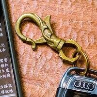 Coppertist. wu бронзовый цветок декоративный узор Карабин Застежка-краб Поворотный коготь крюк брелок подарочная упаковка кулон