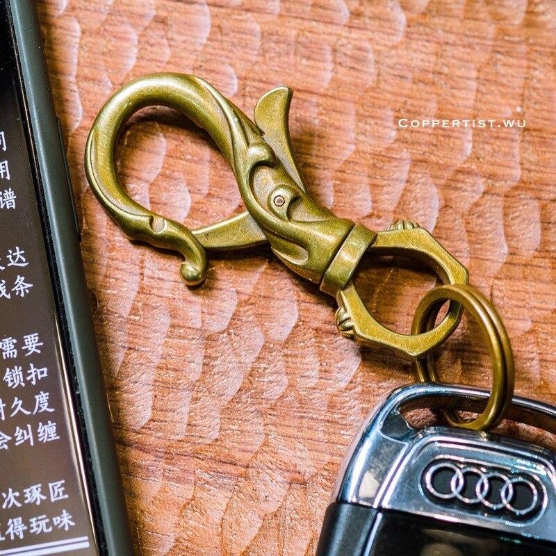 Coppertist. wu бронзовый цветок орнамент карабин Лобстер застежками Поворотный коготь крюк брелок кулон