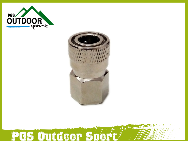 """Paintball PCP Charging Fill Fitting 8mm Copper/Stainless Quick Disconnect Connector 1/8"""" NPT Female Socket Realse"""