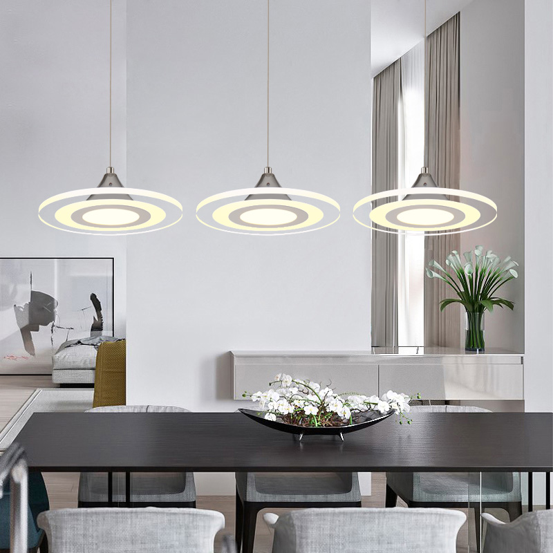 modern quality acylic LED dinning room pendant lamp bed room  home decoration lighting fixture with LED free shipping 110v 220v modern creative quality acylic led dinning room pendant lamp home decoration lighting fixture with led free shipping 110v 220v