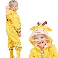 Waterproof kids raincoat 3 9 Years Children Cartoon Frog Rainwear Hooded boys girls RainCoat Outwear Camp Kids rain Jumpsuit