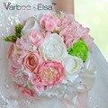 Рамо де флорес novia розовый белый пляж свадебные цветы свадебные букеты, свадебные украшения искусственные свадебные букеты
