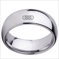 8mm Latest Design For Ladies Rings Male Solid Tungsten Metal Waterproof Ring With Infinite Double Size