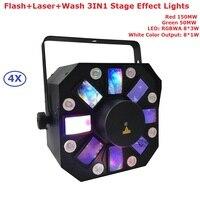 4X продаж 200 мВт RG два цвет DMX лазерный проектор 8X1 Вт белый светодио дный светодиодный сценический эффект Освещение вечерние для свадьбы KTV ук