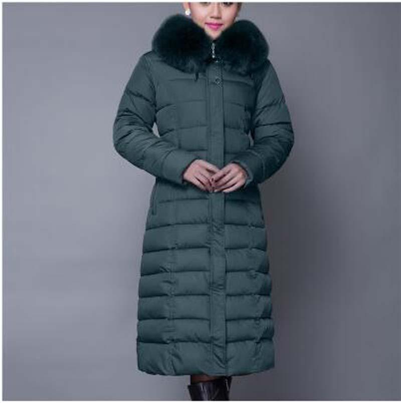 Noir vert Fourrure gris rouge Mince Pardessus Chaud Taille Coton Haute Col Mode Parka Long Et De Épais Plus Manteau Qualité Hiver Veste Femmes 1w6gqBH
