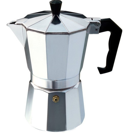 Silver Aluminum Coffee Maker