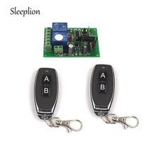 купить Sleeplion 12V 10A 2 CH Channel Remote Control Switch Relay Wireless Transmitter+Receiver Motor Reverse Controller 315MHz 433MHz дешево