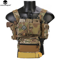 EMERSONGEAR Tactical Chest Rig Micro Fight Chissis MK3 Chest Rig Airsoft Hunting Combat Vest with 5.56 Mag Pouch Multicam EM9261