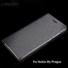 Hzpb1-LANGSIDI брендовая натуральная кожа чехол со стразами для телефона с узором в форме ракушки, чехол для телефона для Nubia моя Прага полностью ручной работы