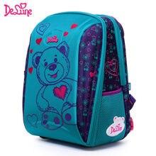 ef36d963981b Delune брендовые Детские Модные 3D Мультяшные Школьные сумки 1-3 для  младшеклассников детские ортопедические школьные рюкзаки дл.
