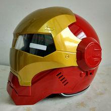 MASEI IRONMAN Iron Man casco de moto casco medio casco abierto cara motocross casco casco rojo 610 M L XL envío libre gratis
