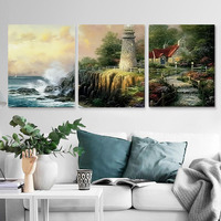 Seaside castle view DIY Painting By Numbers Acrylic Paint On Canvas Drawing Paint By Numbers Unique Gift pictures On Wall MK089