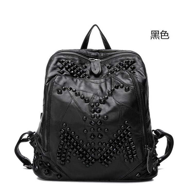 Sac newhotstacy 111416 femmes nouveau sac à dos en cuir véritable mode double sac à bandoulière - 4