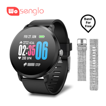 Купить с кэшбэком Smart Watch Bluetooth bracelet Sport band Stopwatch Sleep monitoring Heart rate Blood pressure For Apple iPhone 7 8 Xiaomi Bnad