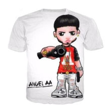 fad1cb5d5 Sondirane New Fashion Womens/Mens Anuel Aa Funny 3D Print Casual T-Shirt  Summer Shor Sleeve Crewneck Tees Tops Design Clothing