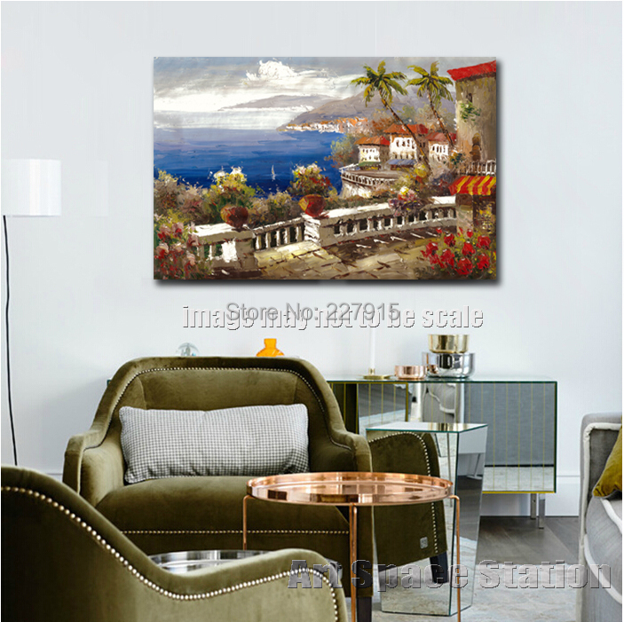 MODERN OIL PAINTING ON CANVAS WALL ART \