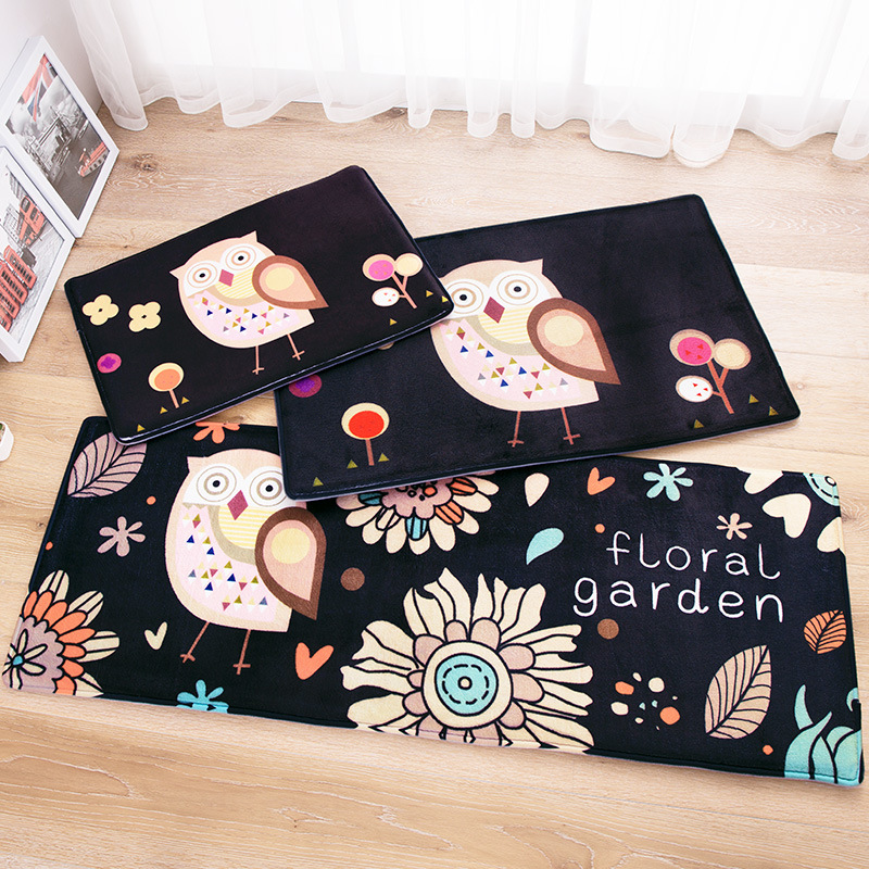 Owl Carpet 45 120cm Kitchen Mat Cartoon Home Carpet Door
