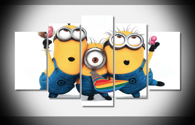 7370 minions Despicable Me Poster Framed Gallery wrap art print home wall decor Gift wall picture Already to hang digital print & 7370 minions Despicable Me Poster Framed Gallery wrap art print home ...