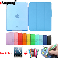 Crystal Hard Back With Ultra Slim Magnetic Luxury Leather Smart Split Cover For Ipad 6 Case