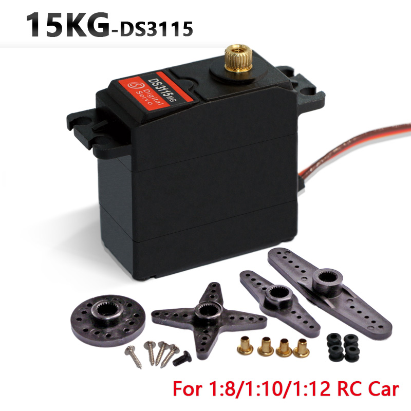 1X Free Shipment Original Factory High Torque Servo 15kg DS3115 Servo Metal Gear Servo For Rc Car Boat Plane