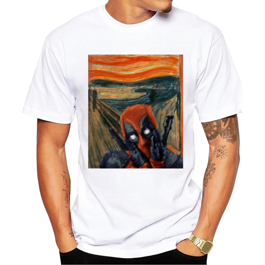 2017 Men 39 S Badass Deadpool T Shirt Fashion Cookie Muncher