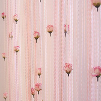 300*300cm Rose flower line curtain Hotel interior curtains partitions background wall decoration
