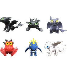 6Pcs Dragon Action Figure Toys Night Fury Light Fury Toothless Dragon Figure Model Toys Kids Gift цены онлайн