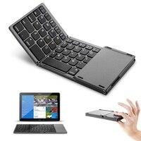 Mini plegable Touch 3 0 teclado Bluetooth para iPhone iPad Samsung Dex ganar iOS sistema Android