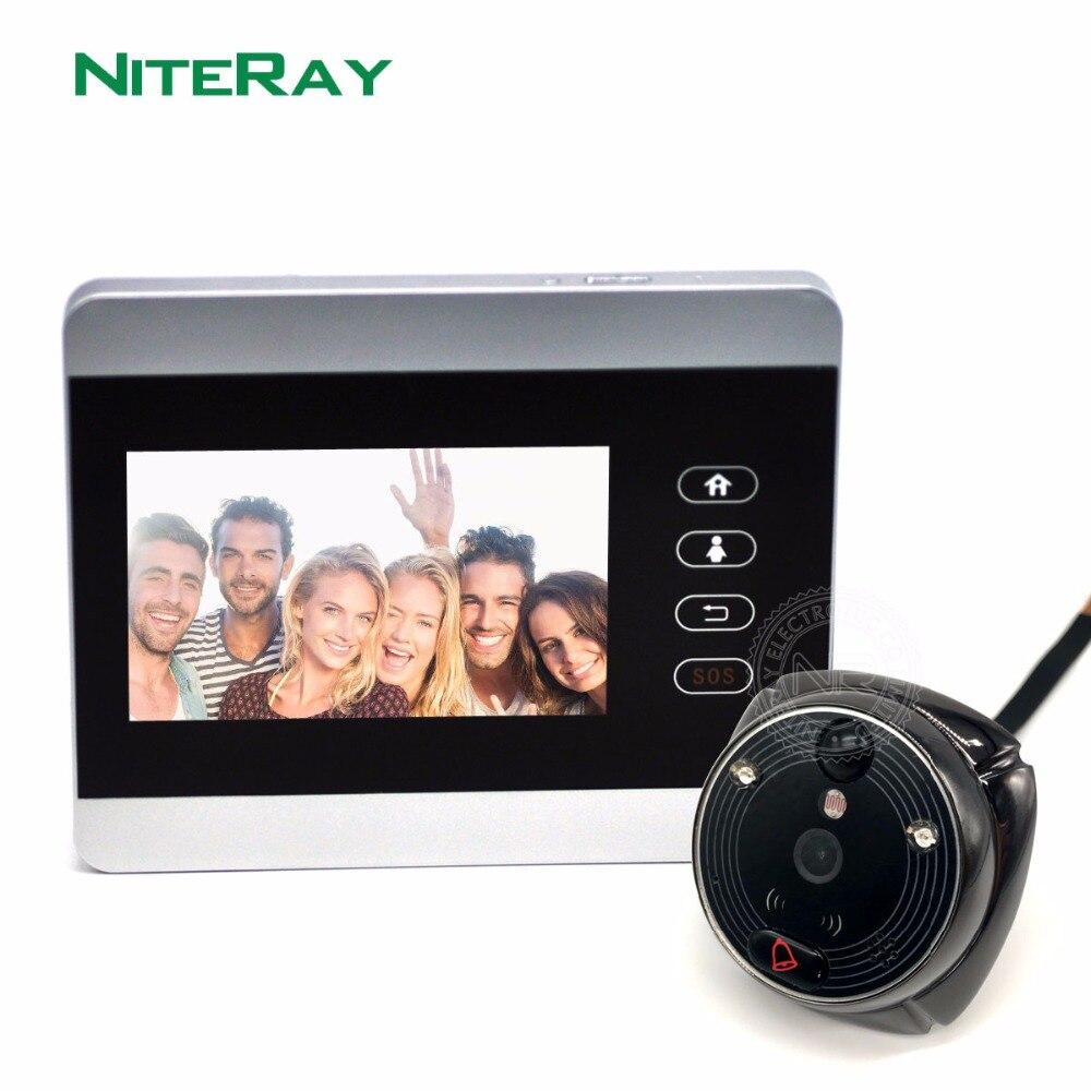 Nouvelle Porte Spectateur ihome5 pour Appartement Sécurité, nuit Vision WiFi Sonnette Caméra Vidéo Porte Téléphone Super Long Temps de Latence