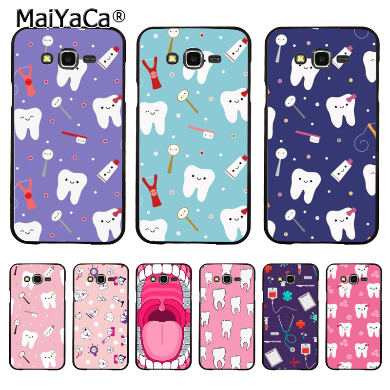 Frank Maiyaca Cartoon Tooth Nurse Doctor Dentist Stethoscope Phone Case For Samsung Galaxy S10plus J7 J4 J6 J2pro Note9 8 Case Coque Available In Various Designs And Specifications For Your Selection Half-wrapped Case