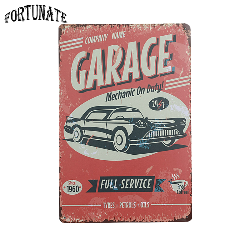hot grarge full service vintage metal signs home decor vintage tin signs pub vintage decorative plates - Decorative Name Plates For Home