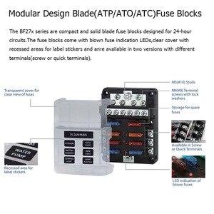 Image 3 - Caja común negativa de 12 bits diseño Modular hoja fusible bloque LED indicador para coche RV fusible para bote caja con lámpara